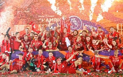 La festa ad Anfield del Liverpool campione. FOTO