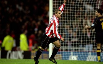 18 Dec 1999:  Kevin Phillips of Sunderland celebrates a goal during the FA Carling Premier League match against Southampton played at the Stadium of Light in Sunderland, England. Sunderland won the game 2-0. \ Mandatory Credit: Shaun Botterill /Allsport
