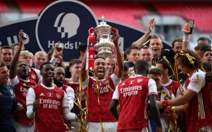 Aubameyang show, FA Cup ai Gunners: Chelsea ko 2-1