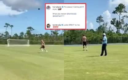 Kane, allenamento stile Nfl. E Tom Brady approva