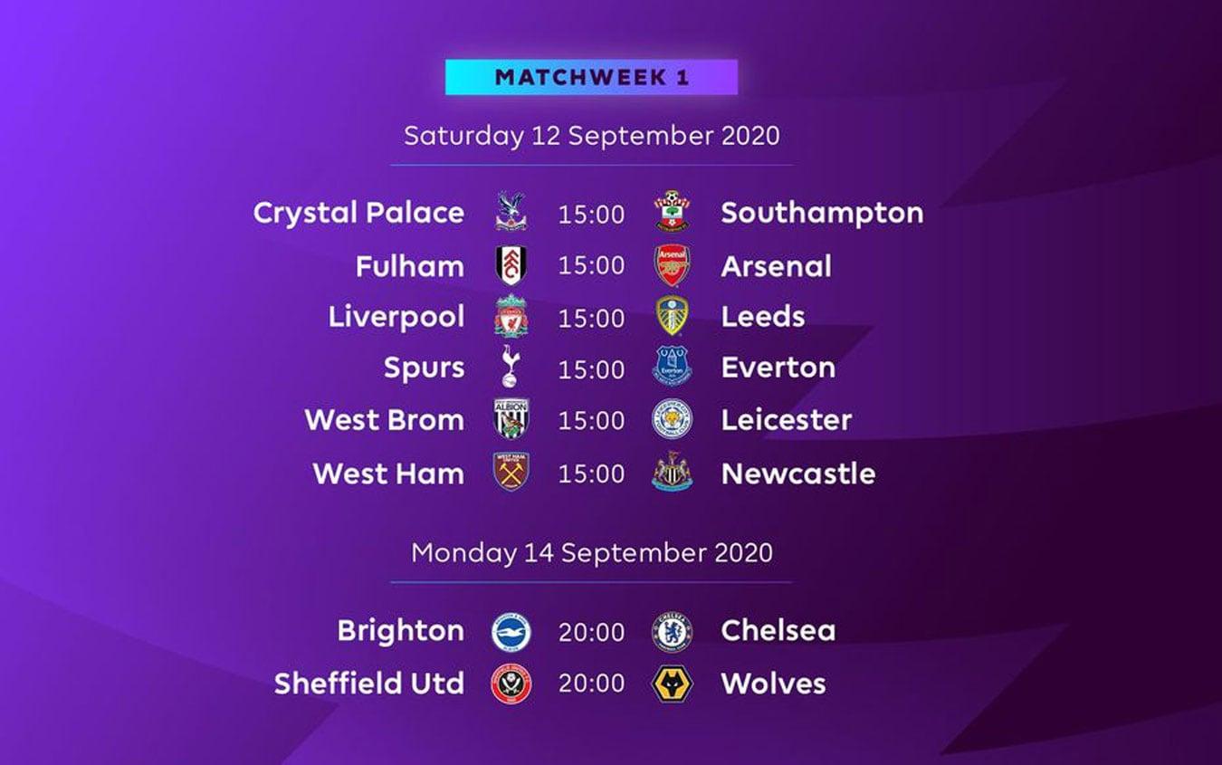 Premier League, il calendario del campionato inglese 2020 2021
