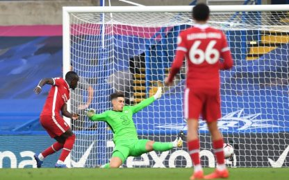 Kepa, errore pazzesco: regala il 2-0 a Mané. VIDEO