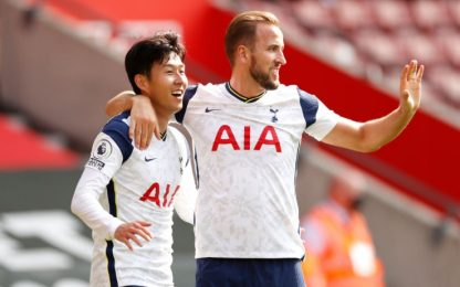 4 gol Son, 4 assist e 1 gol Kane: Spurs a valanga