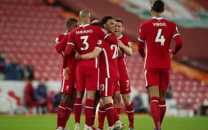 Il Liverpool 'ribalta' l'Arsenal: 3-1 e 1° posto