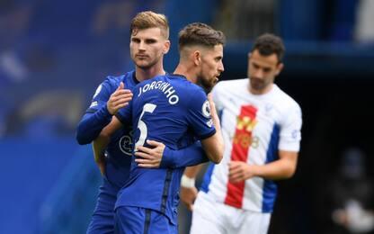 Il Chelsea ne fa 4 al Palace: doppietta Jorginho