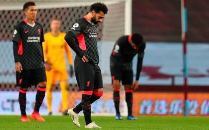 Liverpool, ko storico: l'Aston Villa vince 7-2