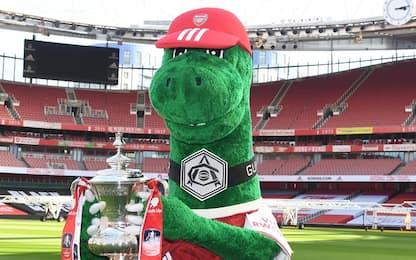Arsenal, tifosi in festa: reintegrato Gunnersaurus