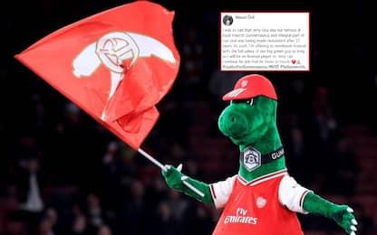 Arsenal, mascotte resta: lo stipendio lo paga Ozil