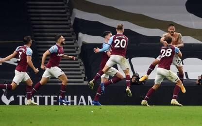 Tottenham, crollo finale: West Ham rimonta 3 gol