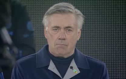 Ancelotti si commuove per Diego, lacrime in campo