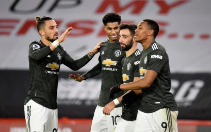 Doppio Rashford e Martial: 3-2 United a Sheffield