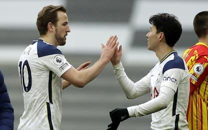 Kane e Son, Tottenham-West Bromwich 2-0