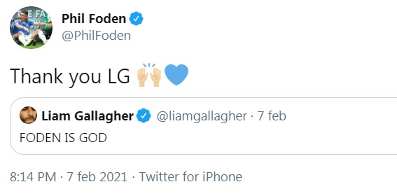 Foden Liam Gallagher Twitter