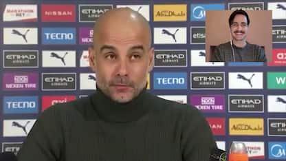 """Guardiola al cronista: """"Mi piacciono i tuoi baffi"""""""