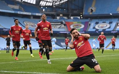 Festa United, 2-0 al City. Pep ko dopo 21 vittorie