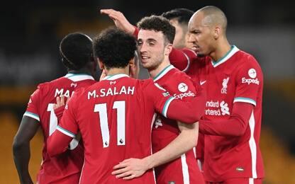Il Liverpool torna a vincere: battuto il Wolves