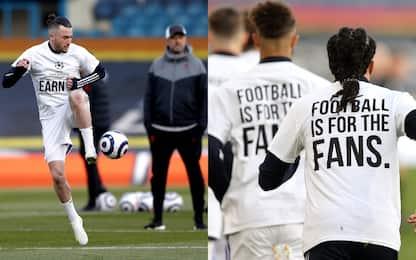 """Il Leeds si schiera in campo: """"Calcio è dei fans"""""""