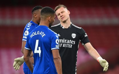 Papera di Leno, Arsenal ko: vince l'Everton 1-0