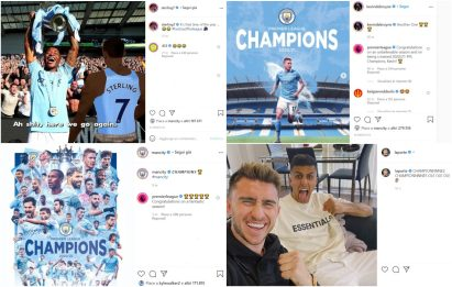 Titolo al City, le reazioni social dei giocatori