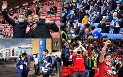 In Premier i tifosi tornano allo stadio. LE FOTO