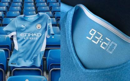 La nuova maglia del City omaggia il gol di Aguero