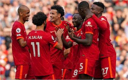 Il Liverpool vince e vola in testa, frenata City
