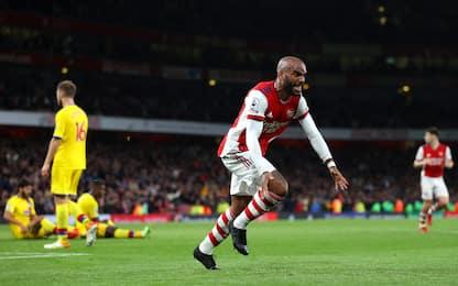 Lacazette-gol sul fotofinish: Arsenal-Palace 2-2