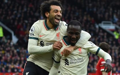 United da incubo, super Salah: Liverpool vince 5-0