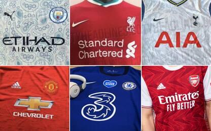 Le maglie della prossima stagione di Premier. FOTO