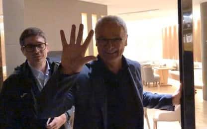 Ranieri è a Genova, oggi la presentazione