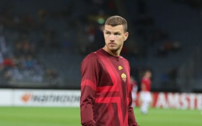 Roma, mai un ko senza Dzeko: 37 punti in 15 gare