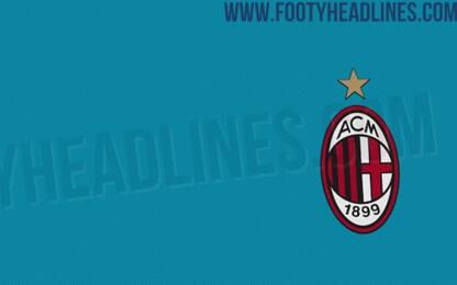 Milan, terza maglia per il 2020/21 azzurra. FOTO
