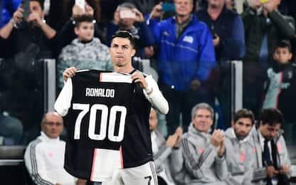 Maglia 700, Ronaldo omaggiato dallo Stadium. VIDEO