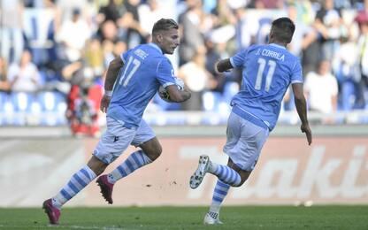 Super Atalanta, Immobile rimonta: 3-3 con la Lazio