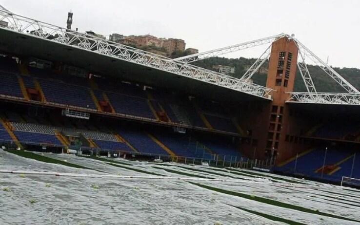 Marassi, il rinvio di Sampdoria Roma nel 2017 per l'allerta meteo