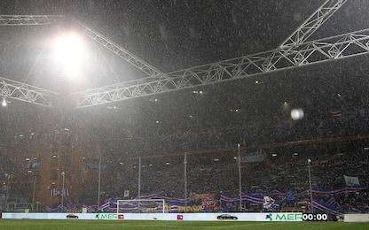 Allerta arancione, ma tutto ok: Samp-Roma si gioca