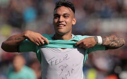 """Sassuolo Inter, Lautaro: """"Dedicato a mia mamma"""""""
