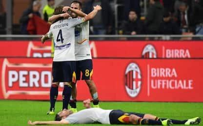 Calderoni al 92', il Milan pareggia 2-2 col Lecce