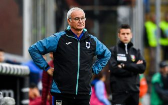 Sampdoria's Italian coach Claudio Ranieri during the Italian Serie A soccer match Uc Sampdoria vs As Roma at Luigi Ferraris Stadium in Genoa, Italy, 20 October 2019.   ANSA/SIMONE ARVEDA