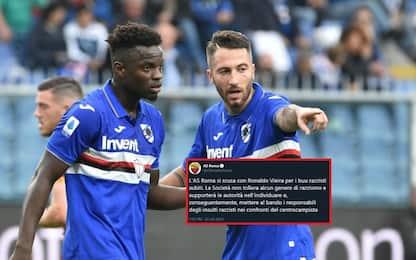 "Buu a Vieira, la Roma si scusa: ""Bandiremo tifosi"""