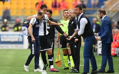 Parma perde Inglese e Alves: out almeno 15 giorni