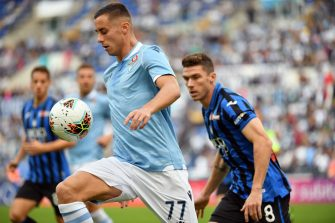 ROME, ITALY - OCTOBER 19: Adam Marusic of SS Lazio in action during the Serie A match between SS Lazio and Atalanta BC at Stadio Olimpico on October 19, 2019 in Rome, Italy.  (Photo by Marco Rosi/Getty Images)