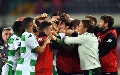 Djuricic-gol, vince il Sassuolo: Verona ko 1-0