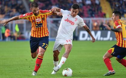 Mancosu risponde a Dybala, la Juve frena a Lecce