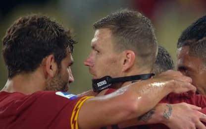Roma, Dzeko segna e perde la maschera. VIDEO