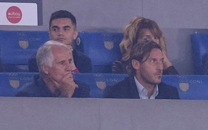 Totti torna all'Olimpico: prima volta dopo l'addio