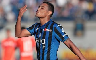 BERGAMO, ITALY - OCTOBER 27:  Luis Muriel of Atalanta BC celebrates his goal during the Serie A match between Atalanta BC and Udinese Calcio at Gewiss Stadium on October 27, 2019 in Bergamo, Italy.  (Photo by Emilio Andreoli/Getty Images)