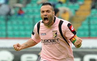 SIENA, ITALY - MAY 02:  Fabrizio Miccoli of Palermo celebrates after his goal (2-0) during the Serie A match between Siena and Palermo  at Stadio Artemio Franchi on May 2, 2010 in Siena, Italy.  (Photo by Tullio Puglia/Getty Images)