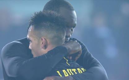 Lukaku-Lautaro: abbraccio dopo la vittoria. VIDEO