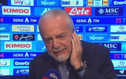 """De Laurentiis: """"Chiarezza da arbitri, siamo stufi"""""""